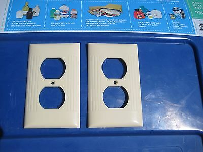 Vintage * SIERRA ELECTRIC * 1-Gang Duplex Outlet Receptacle Wall Plate Set of 2