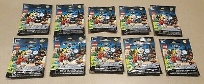 Lego THE BATMAN MOVIE Series 2 Minifigures 71020 Lot of 10 NEW BLIND BAGS PACKS