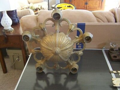 Antique Art Deco Victorian Style  5 Light Chandelier Light Fixture