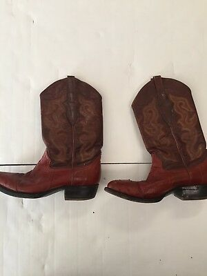 """""""MALVADO"""" FULL QUILL OSTRICH & LEATHER BOOTS ~ Reddish Brown ~ Size 7 EE"""