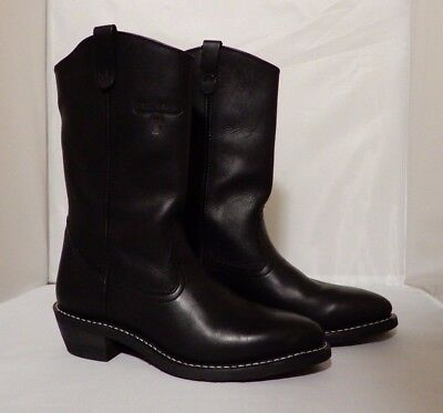 Mason Western / Motorcycle Boots Black Leather 10C Non-Marking Oil Resistant