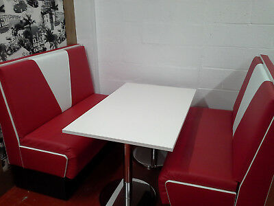 american diner furniture 50s style retro booth table and 2x booths