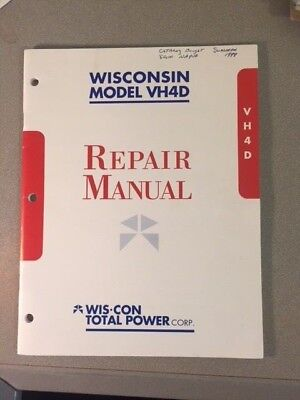 Wisconsin Engine Model VH4D Illustrated Repair Manual