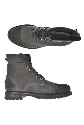 HAMAKI-HO Ankle Boots Sz. 43 Leather Made In Italy Man Grey SCA107H-GR PUT OFFER