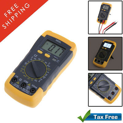 DIgital AC/DC Electronic Multimeter Volt Ohm Diode Frequency Fluke Safe Tester
