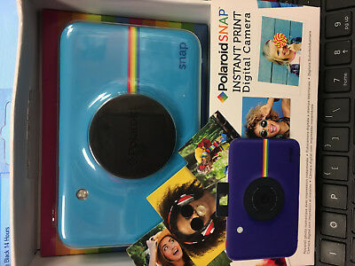 Sealed Polaroid digital Camera Instant Print Snap Megapixel Digital Camera Blue