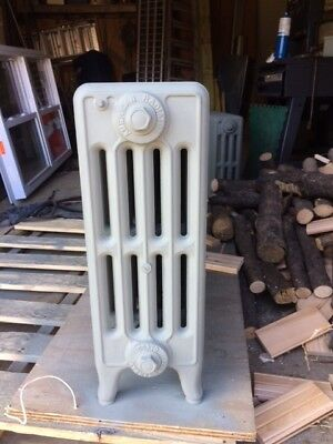 Antique Vintage Cast Iron Hot Water or Steam Radiator sand blasted primed local!