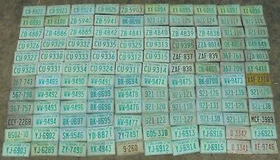 VINTAGE 1970's OKLAHOMA LICENSE PLATE LOT OF 120 ARTS CRAFTS (LOT#3)