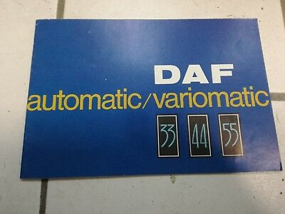 DAF automatic variomatic 55 44 33 brochure depliant  auto 1967 advertisement