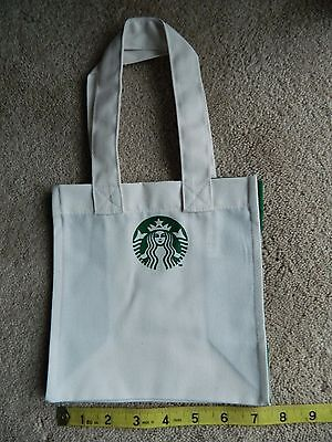 Starbucks Coffee Mini Canvas Tote Lunch Bag 7.5 X 7.5 ~ Color: White