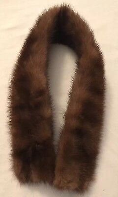 Vintage Brown Real Mink Fur Collar Stole Wrap! ~Beautiful!! Soft!!!