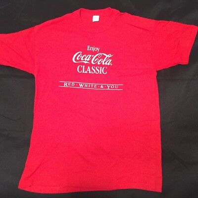 Vintage Coca Cola Classic Red Tshirt, L Great Condition!