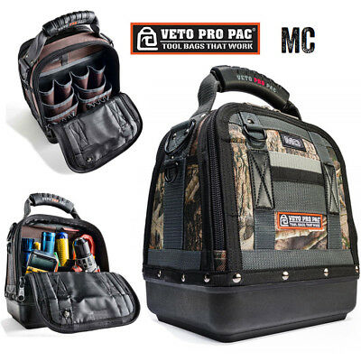 Veto Pro Pac MC Waterproof Camo Medium Zipper Tool Storage Tech Bag 20 Pockets