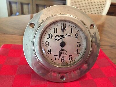 Antique Oldsmobile Car Dash Ansonia Clock