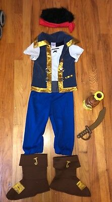 Disney Store Jake & the Neverland Pirates Dress Up Outfit Costume size 3 sword