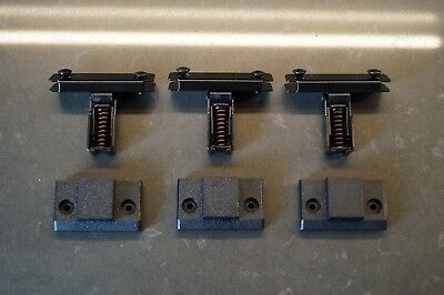 Set of 3 Technics Hinges Scharniere and 3 backplates