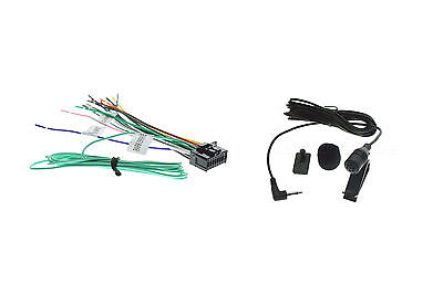 WIRE HARNESS & Mic For Pioneer Fhx731Bt Fh-X731Bt on