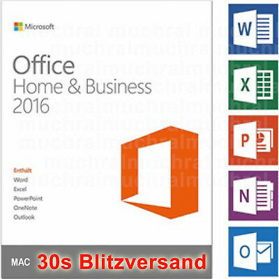 MS Microsoft Office 2016 Home and Business für MAC Word Excel PowerPoint OneNote