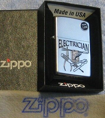 ZIPPO WORK  SERIES Lighter  ELECTRICIAN  Wire Cutters TESTER   Mint in Box