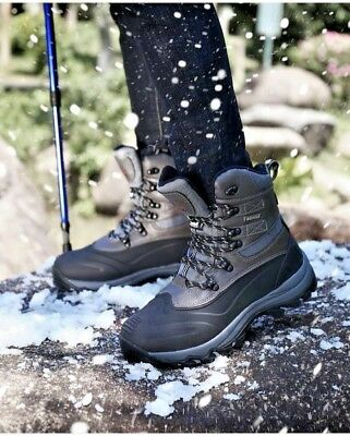 Men's Snow Boots Waterproof Insulated Construction Hiking Black Size 10 M US