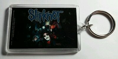 As-Is Slipknot Group Band Photo '01 Vintage Black Key Chain Keychain