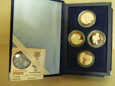 1982 E.t. The Extra-Terrestrial Limited Edition 4 Pure Silver Coin Set Rare Coa