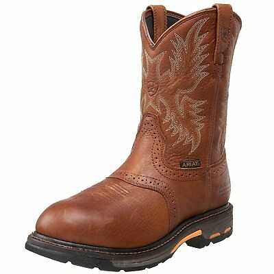 Ariat Mens Workhog Pull-on H2O Composite Toe Work Boot, Dark Copper, 9 2E US
