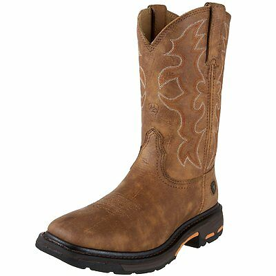 Ariat Mens Workhog Wide Square Toe Work Boot, Rugged Bark, 10.5 D US