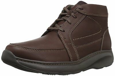 CLARKS Mens Charton Top Chukka Boot, Brown Leather, 9 M US