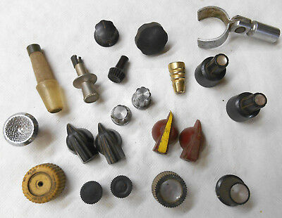 Vintage Old Antique Mixed Radio TV Tester Switch Knob Knobs Junk Drawer Lot