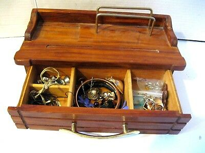 Large Lot. Of Vintage Jewelry & Box From A  Estate