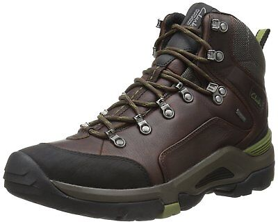 Clarks Mens Outride Hi GTX Boot,Brown Leather,9.5 M US