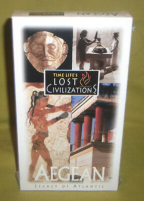 Time Life's Lost Civilizations – Aegean: Legacy of Atlantis 1995 BRAND NEW VHS