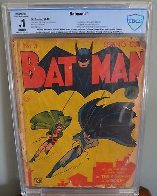 Batman #1 (1940, DC) Golden Age Key  1st appearances of the Joker & Catwoman WOW