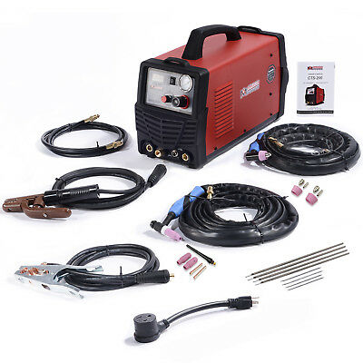 CTS-200 200A TIG/Stick Arc Welder 50A Plasma Cutter 3-in-1 Welding 110/230V New