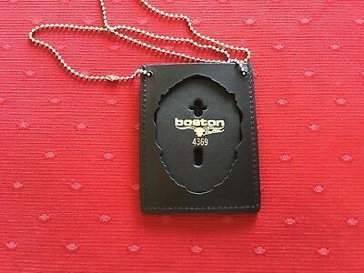 Boston Leather 400-4369 Neck Chain or Pocket Badge & ID Holder