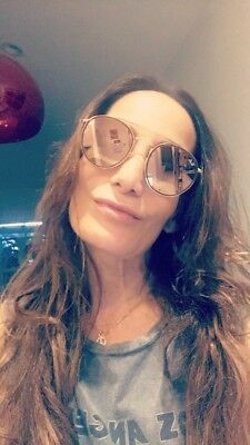 Ray Ban Aviator sunglasses women gold frame with pink lenses. Collection 2016