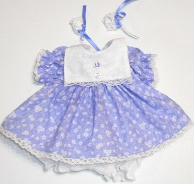 "Cabbage Patch Doll Clothes: Fit 16""doll:lavender /tiny Wht Flowersdress Set- 4Pc"