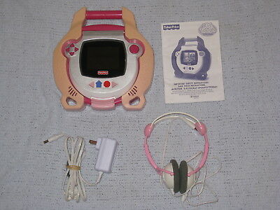 Fisher Price Kid Tough DVD Player & Headphones Pink w Power Supply Instructions