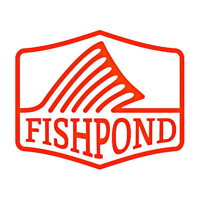 """Fishpond Fly Fishing Thermal Die Cut Sticker Dorsal Fin - 4"""""""