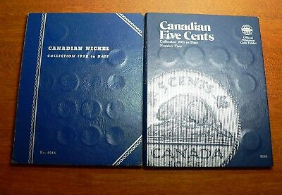 Canadian Five Cent (Nickel) Lot, 49 Coins in 2 Whitman Folders
