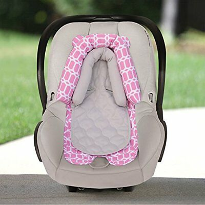 2-in-1 Infant Baby & Child Care Car Seat Head Support Pink, White NEW NO TAX