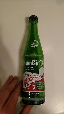 Mountain Dew hillbilly acl soda bottle. Filled by Ed and Gene. W/ cap