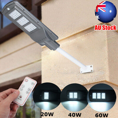 20W 40W 60W LED Solar Radar Motion Light Sensor Street Wall Lamp Outdoor Garden
