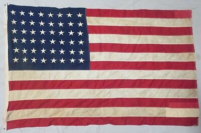 Used Worn & Repaired ORIGINAL WW2 Vintage US 48 STAR AMERICAN FLAG 4x6 by ANNIN