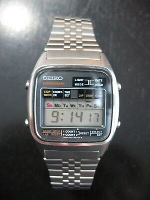 Vintage SEIKO CHRONOGRAPH ~ LCD Digital A127-5019 New Battery CLEAN MINT! @N/R