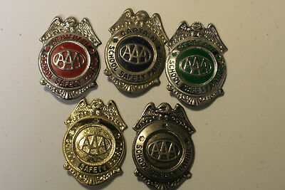 Lot of AAA Safety Patrol Badges