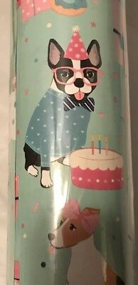 BOSTON TERRIER BIRTHDAY ALL OCCASION WRAPPING PAPER 30 In X 12 Ft By Clementine