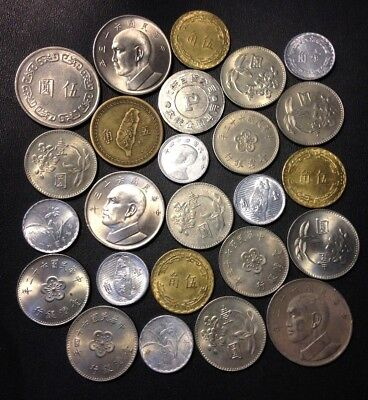Old Taiwan Coin Lot - 1949-Present - 25 Excellent Coins - Lot #J13