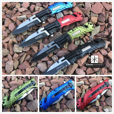 TWO TONED RAZOR Serrated BLADE Pocket Folding Knife Tactical Hunting Multi Tools